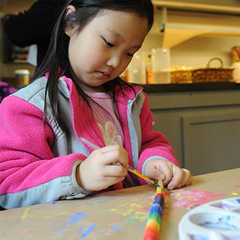 Girl paints