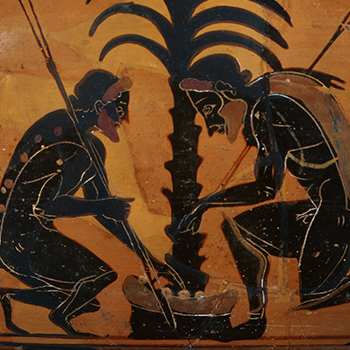 Achilles and Ajax playing dice
