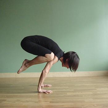 Yoga instructor Anna Leo