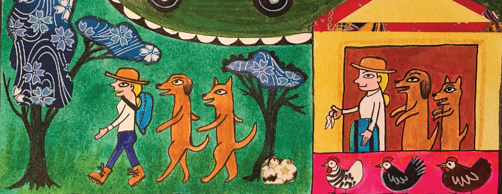 Sample artwork from Indian painting lesson plan