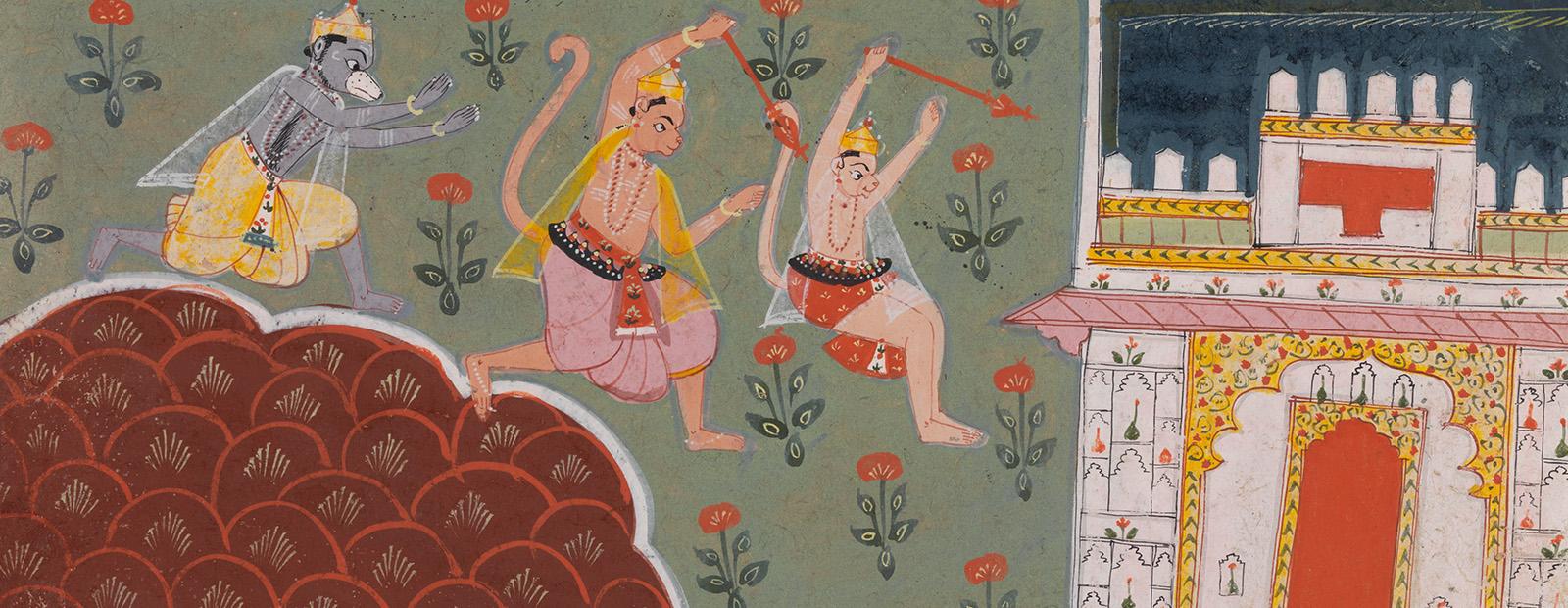 Hanuman Leaps to Lanka