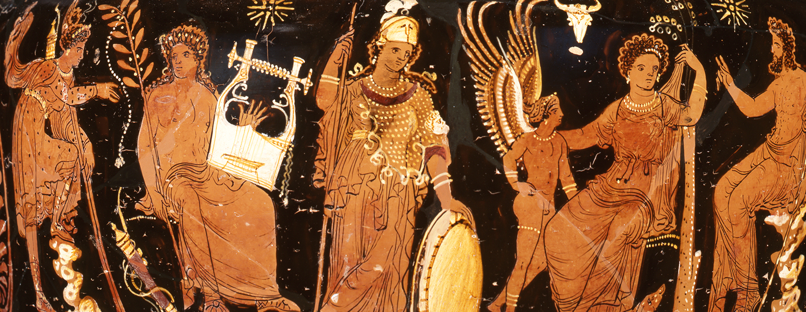 Gods and goddesses on volute-krater