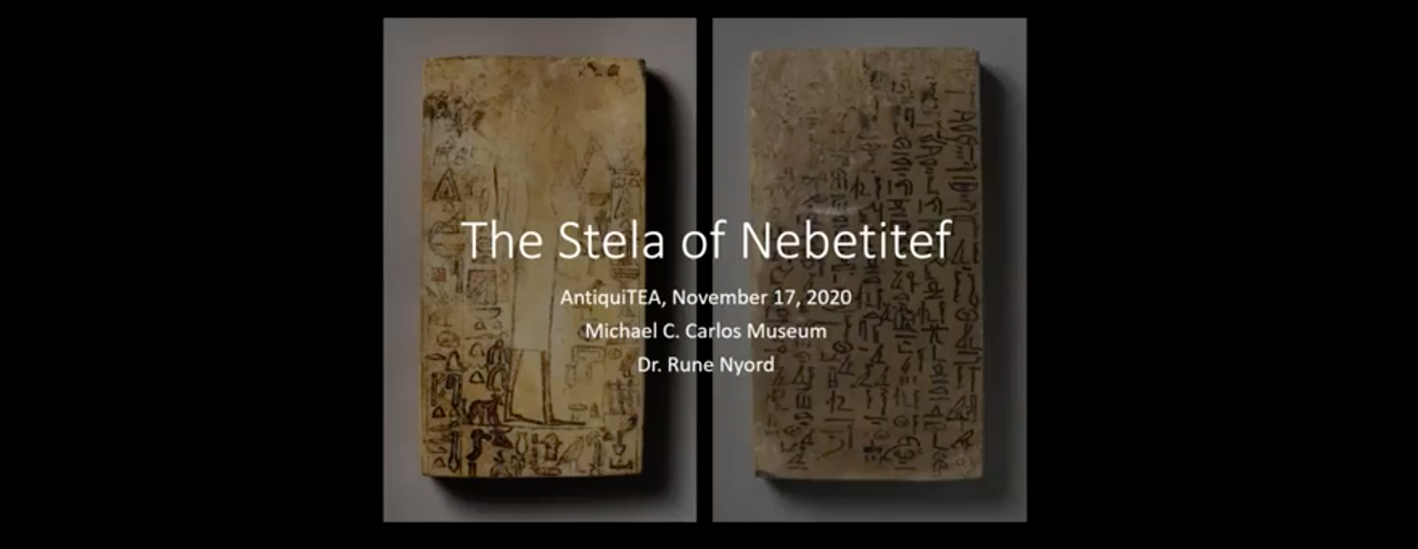 Two sides of the Stela of Nebetitef
