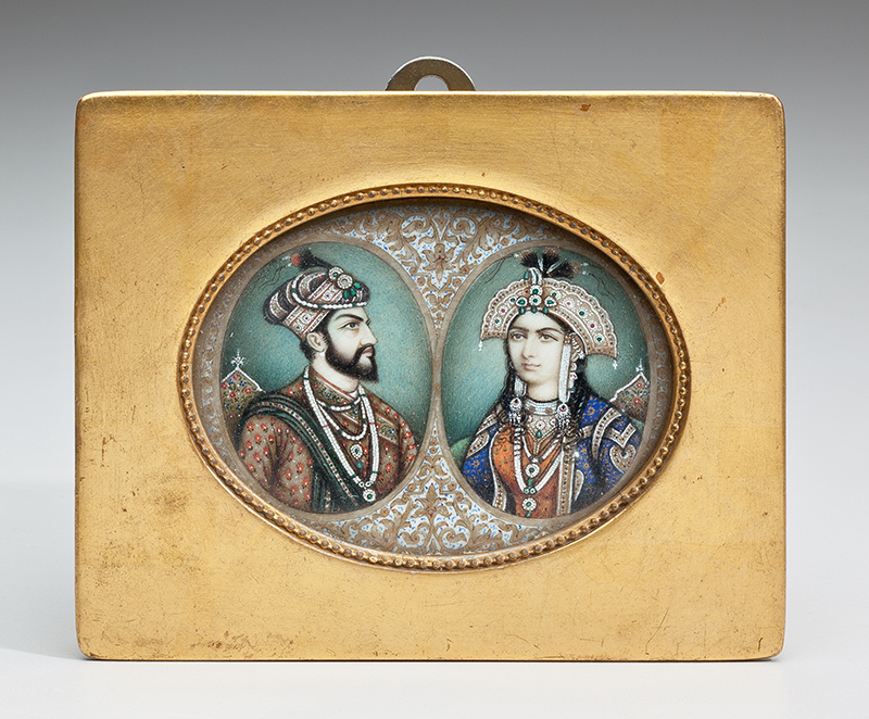 Double Portrait of Mughal Emperor Shah Jahan and Empress Mumtaz