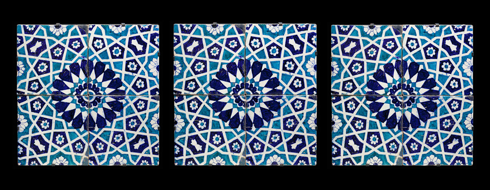 Wall tile with floral and Geometric Motif