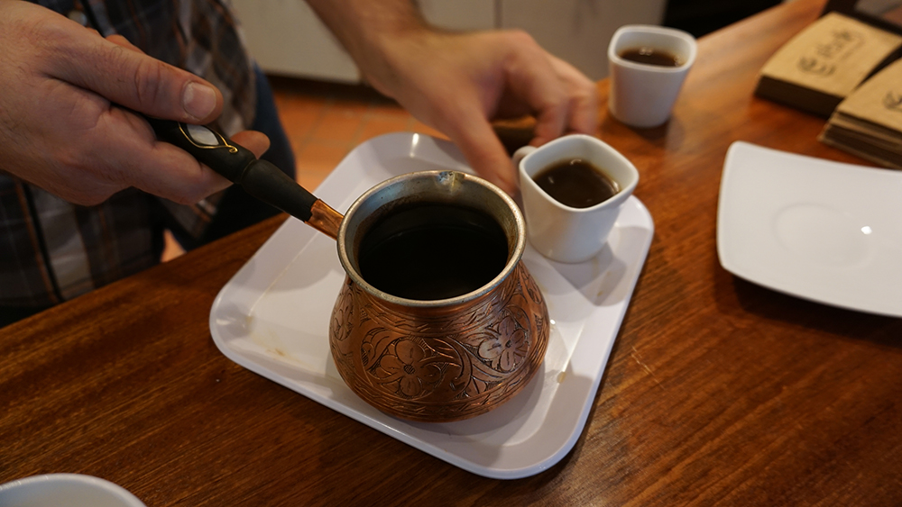Turkish coffee at Ebrik Coffee Room