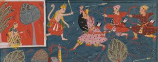 Hanuman fights for Sita